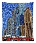 Chicago Wells Street Bridge Tapestry