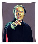 Christopher Lee As Dracula Tapestry