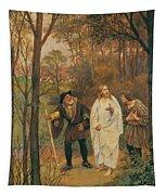 Christus Und Die J Nger Von Emmaus 1914 Tapestry