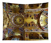 Church Ceiling Serbian Orthodox Resurrection Cathedral Saborni Hram Hristovog Vaskrsenja Podgorica Tapestry
