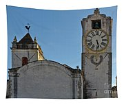 Church Of Saint Mary In Tavira. Portugal Tapestry