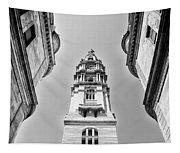 City Hall In Center City Philadelphia In Black And White Tapestry