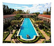 Classic Awesome J Paul Getty Architectural View Villa  Tapestry
