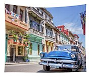 Classic Car Havana 8x10 Tapestry