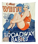 Classic Movie Poster - Broadway Babies Tapestry
