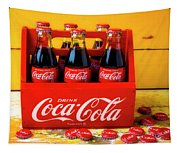 Classic Six Pack Of Cokes Tapestry