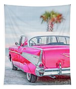 Classic Vintage Pink Chevy Bel Air  8x10 Scene Tapestry