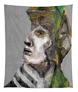 Clear Grey Sky Portrait Tapestry