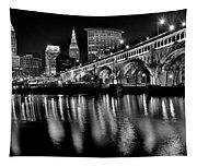 Cleveland Skyline Tapestry