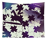 Clock Holes And Puzzle Pieces Tapestry