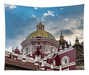 Clouds Over Puebla Cathedral Tapestry
