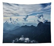 Moody Cloudy Mountains With A Lot Of Contrast And Shadows And Clouds Tapestry