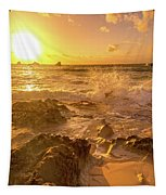 Coastal Sunrise Spectacular  Tapestry