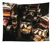 Cognac Cars Tapestry