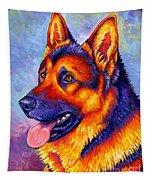 Colorful German Shepherd Dog Tapestry