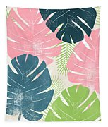 Colorful Palm Leaves 1- Art By Linda Woods Tapestry