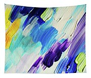 Colorful Rain Fragment 1. Abstract Painting Tapestry
