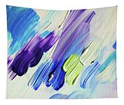 Colorful Rain Fragment 2. Abstract Painting Tapestry