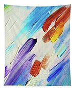 Colorful Rain Fragment 3. Abstract Painting Tapestry