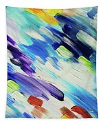Colorful Rain Fragment 6. Abstract Painting Tapestry