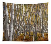 Colorful Stick Forest Tapestry