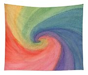 Colorful Wave Tapestry