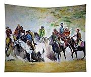 Colors In Buzkash Sport Tapestry