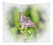 Common Checkered Skipper Butterfly  Tapestry