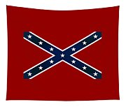 Confederate Stars And Bars T-shirt Tapestry