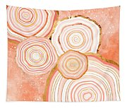 Coral Agate Abstract Tapestry