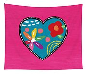 Corazon 2- Art By Linda Woods Tapestry