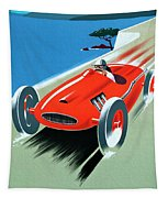 Cote D Azur, French Rivera Vintage Racing Poster Tapestry