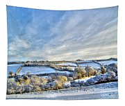 Countryside Winter Scene Tapestry