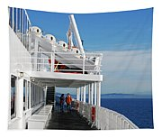 Cozy Walk -  Painterly Ferry To Victoria Tapestry