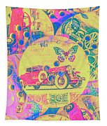 Crafty Car Commercial Tapestry