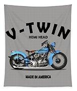 Crocker Hem-head V-twin Tapestry by Mark Rogan