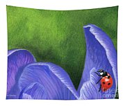 Crocus And Ladybug Detail Tapestry