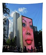Crown Fountain Park Tapestry