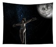 Crucifiction Surreal Tapestry