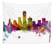 Dallas Texas Skyline Panoramic Tapestry