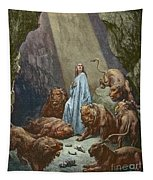 Daniel In The Den Of Lions  Engraving By Gustave Dore Tapestry