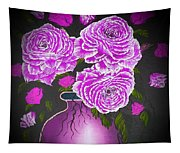 Dark And Delicious Roses In Pink Lilac Tapestry