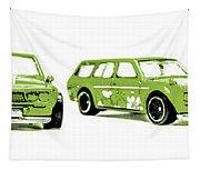 Datsun 510 Comic Strip Tapestry