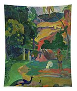 Death, Landscape With Peacocks, 1892 Tapestry