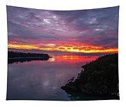 Deception Pass Sunset Landscape Tapestry