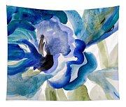 Delicate Blue Square I    Tapestry