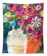 Delightful Bouquet 2- Art By Linda Woods Tapestry