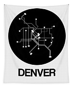 Denver Black Subway Map Tapestry