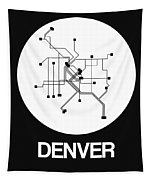 Denver White Subway Map Tapestry