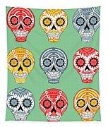 Dia De Muertos Skulls Tapestry